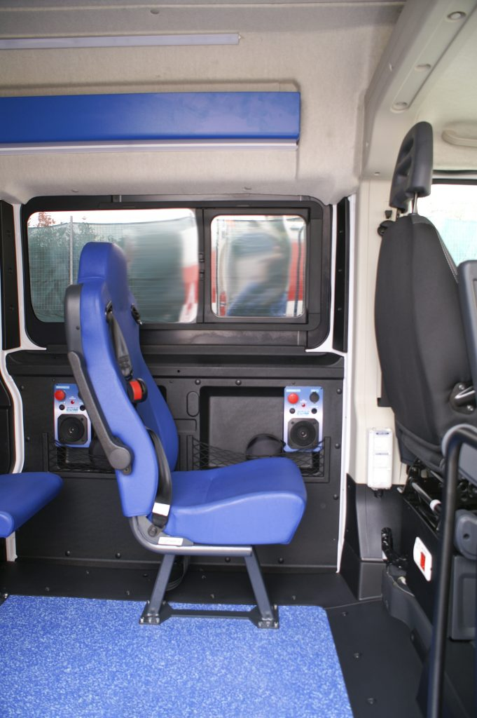 Interno vano MOSS EDM Ambulanze