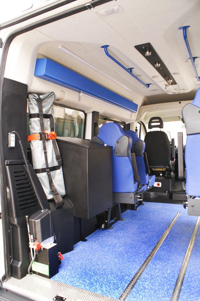 Interno vano MOSS EDM Ambulanze