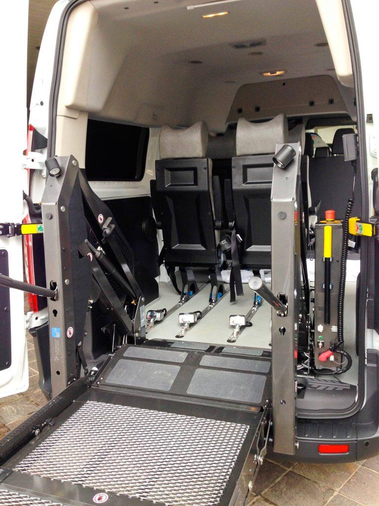 sollevatore carrozzina per mezzo disabili EDM ambulanze