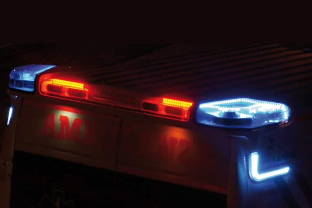 10 - Spoiler notturno Fiat Ducato EDM Ambulanza: gli esterni