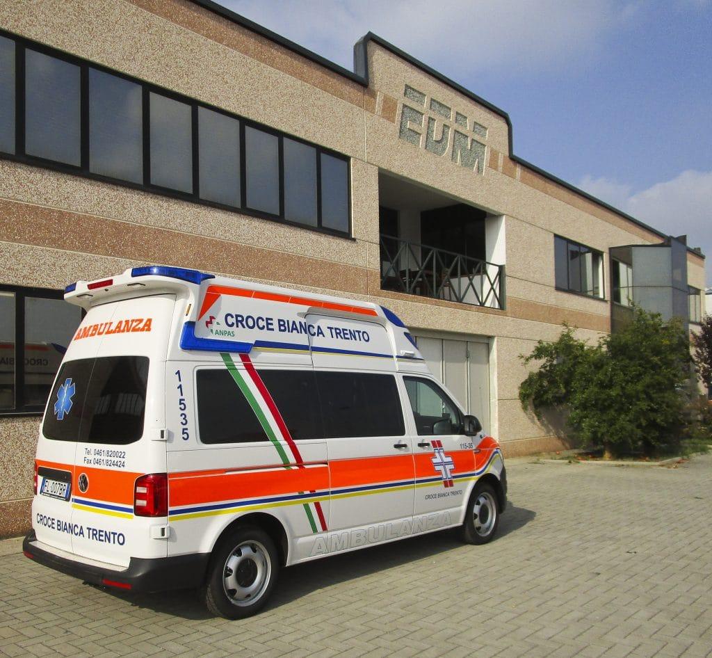 2 Ambulanza EDM Volkswagen T6 modello trentino