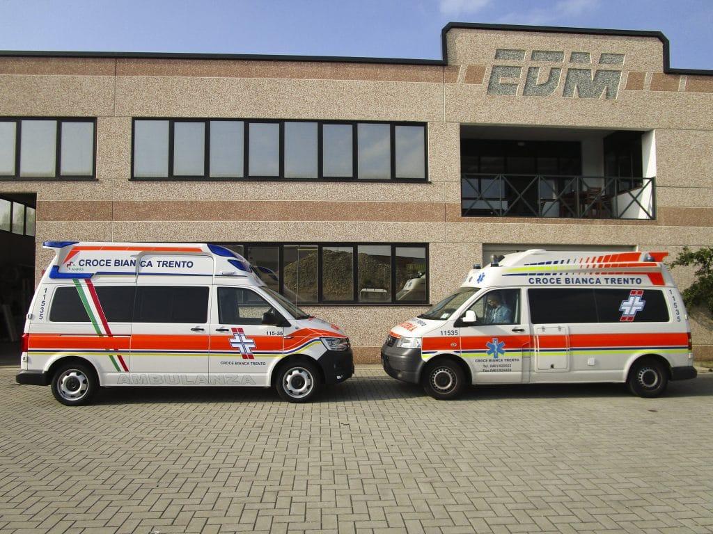3 Ambulanza EDM Volkswagen T6 modello trentino
