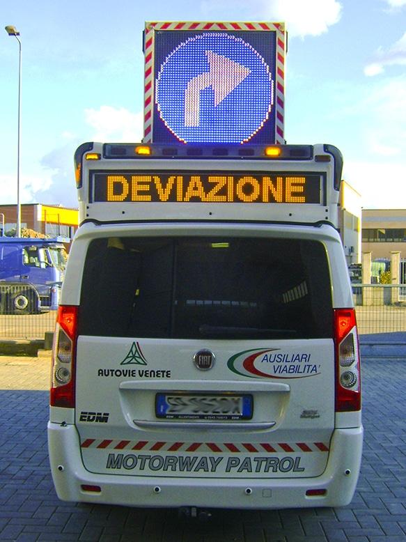 Mezzo autostradale ausiliari della viabilità Fiat Scudo EDM